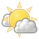 sunny partly